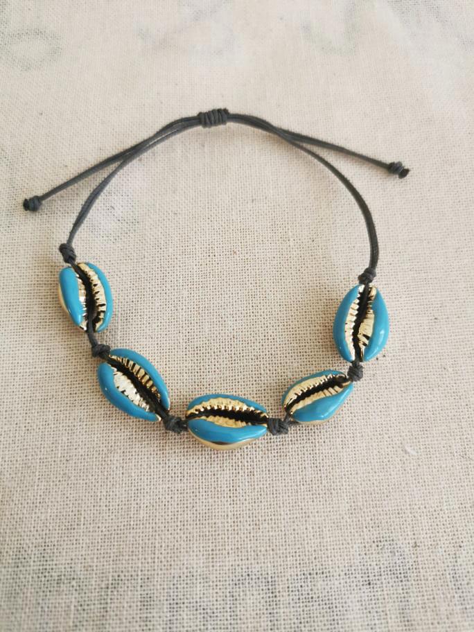 Βραχιόλι Fran shells f & l accessories - Μαύρο